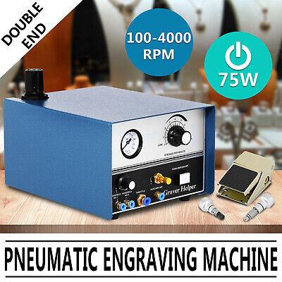 Máquina de grabado neumática de doble extremo de 220V 75W Grabadora de...
