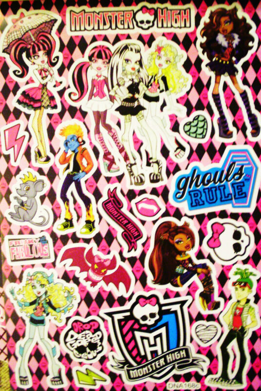 MONSTER HIGH STICKERS BOOK** 6 SHEETS **108 STICKERS