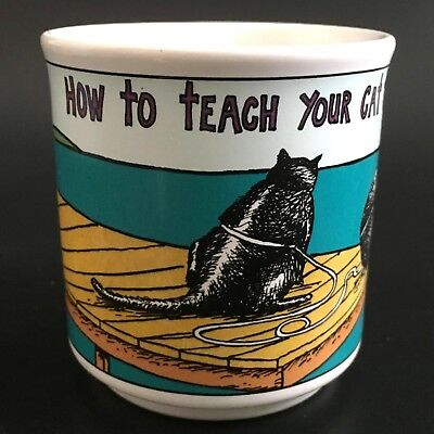 How To Teach Your Cat To Swim Mug Cup Recycled Paper Products 3.5 in Tall 10 oz - 3.5 Oz To Cups