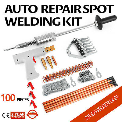 Repair Panels Spot Welding Kit Stud Welder Gun Aluminum Auto Body Dent Removal