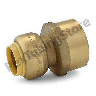 25 12 Sharkbite Style Push-fit X 34 Fnpt Lead-free Brass Fnpt Adapters
