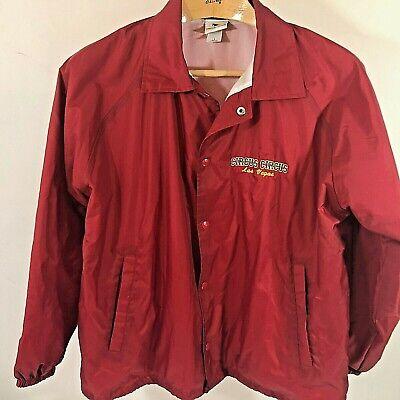 Men's Vintage 90's Small Circus Circus Las Vegas Red Windbreaker zip Jacket