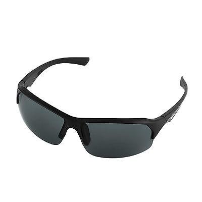 Stylische Sonnenbrille Sportbrille Matrix Style voll cool, schwarz matt, randlos