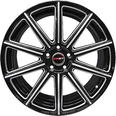 20 Black Fwd Wheels (4 GWG WHEELS 20 inch Black with Mill MOD Rims fits TOYOTA SIENNA FWD 2004 - 2017 )