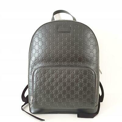Gucci Guccissima Signature Logo Leather Backpack | Black | NEW $2290