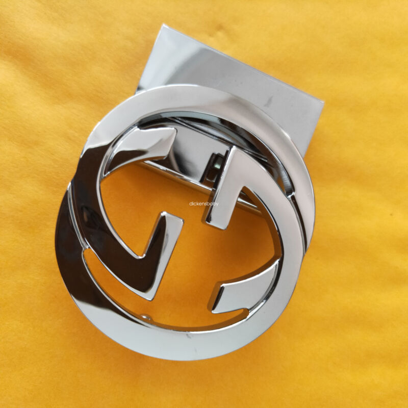 Gucci Double GG Buckle SILVERY For 38 mm Leather Belts