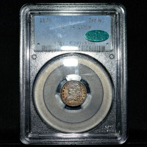 1834-P CAPPED BUST 1/2 HALF DIME ✪ PCGS AU-58 CAC ✪ H10C ALMOST UNC ◢TRUSTED◣
