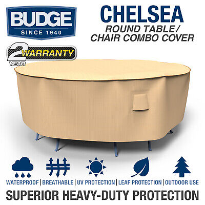 chelsea round waterproof patio table and chair