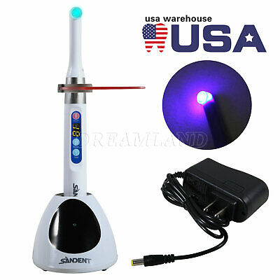 Uspsdental Cordless Curing Light I Led Lamp Fit Woodpecker 1 Second Cure 2300mw