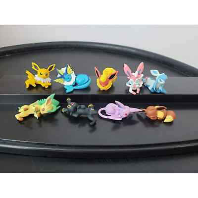 Sleeping Eevee Evolution Pokemon Figures set Authentic Tomy Pokemon Center