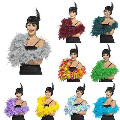180cm Deluxe Feather Boa 20s Gatsby Flapper Burlesque Fancy Dress Hen - Deluxe Burlesque Kostüm