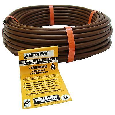 Holman MINISCAPE DRIP TUBE 6mmx25m Reduces Evaporation & Plant Disease*AUS Brand