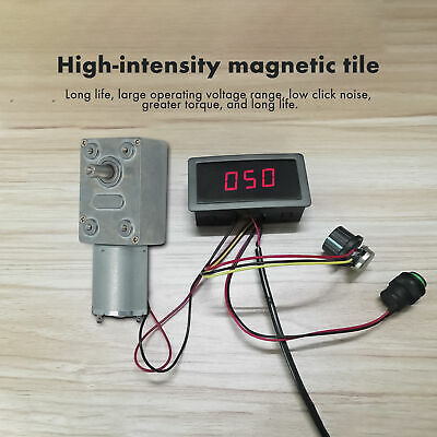 Dc 3v-12v 655rpm High Torque Turbo Worm Electric Geared Motor Low Speed Set