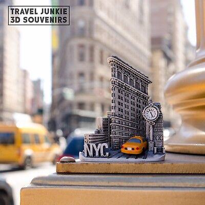New York Tourist Travel Souvenir 3D Fridge Magnet Craft Gift, Flatiron Building