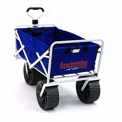 (FOLDABLE BEACH COMBER WAGON Extra Wide Wheels Camping Sports Festivals Gardens )