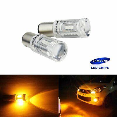 2x Amber P21/5W 1157 BAY15d Bulbs 15 SMD LED Indicator Turn Signal Light Lamp UK
