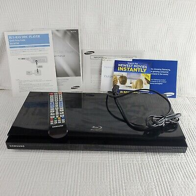 Samsung BD-D5700 Blu-Ray Disc Player Black with Remote Control & User Manual
