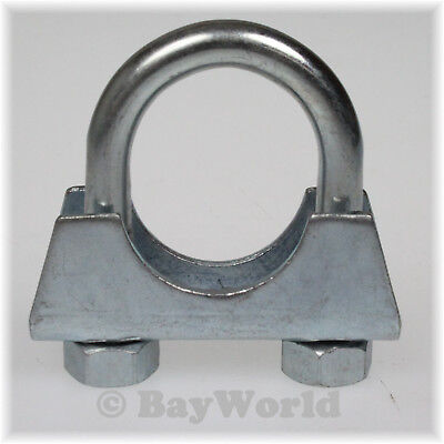 2St Auspuffschelle Rohr-Bügel Schelle U-Bolt Clamp M8x38mm Flachbügelschelle TOP