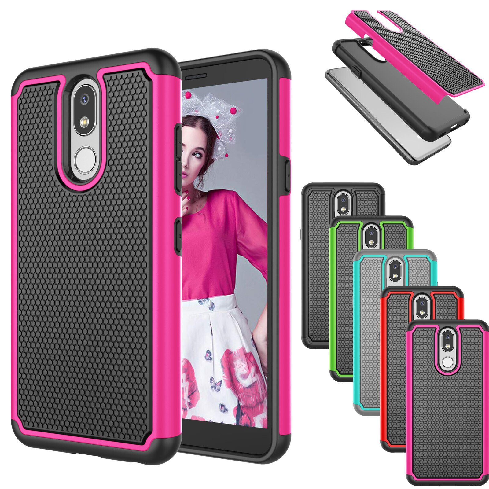 For LG Aristo 4+ Plus/Prime 2/Tribute Royal/Escape Plus Case Slim Hybrid Cover Cases, Covers & Skins