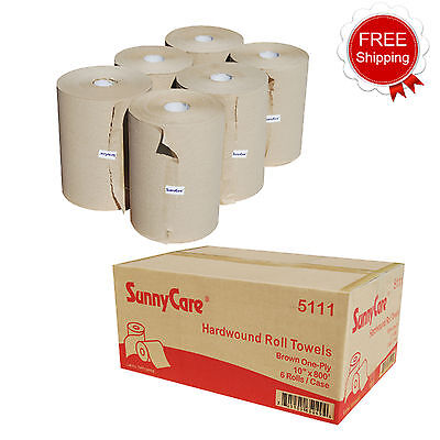 Sunnycare 5111 Kraft 10 Touchless Paper Towel Rolls 800 Roll - 6 Case
