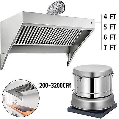 4 5 6 7 Food Trucktrailer Concession Hood Roof Hood Exhaust Fan 200-3200cfm