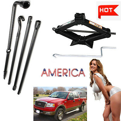 For Ford F-150 2004-2014 Lug Wrench Tool & Spare Tire Scissor Jack Kit Set