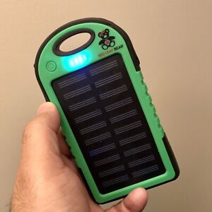 Solar Charger Power Bank with LED Light.