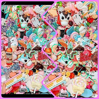 ⚡Mixed KAWAII/HELLO KITTY/FOOD/MERMAID~Random Cabochons,decoden,DIY,Flat-back