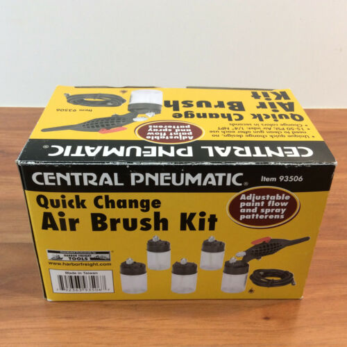 7 Pc 3/4 Oz. Quick-Change Airbrush Kit - 93506 - Used Once