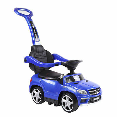 Best Ride On Cars Baby 4-in-1 Mercedes Push Car Stroller with LED Lights,