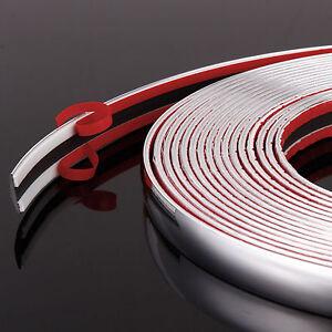 8M Chrom Zierleisten 16mm selbstklebend Chromleiste Leiste Kantenschutz