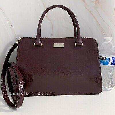 NWT Kate Spade Bixby Place Lise Mahogany Patent Leather $359 WKRU4056