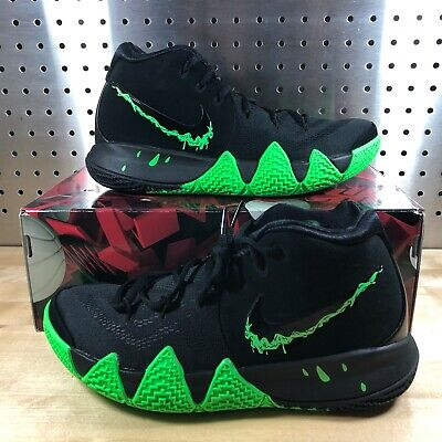New Men's Nike Kyrie 4 Halloween Black Rage Green Irving Shoes Size 7.5