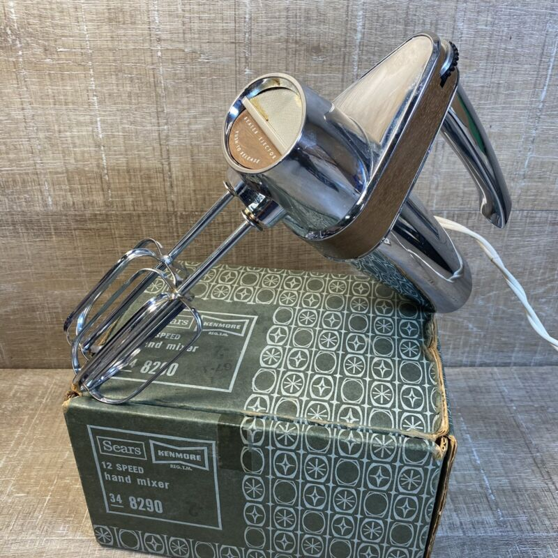 Vintage Sears Kenmore Hand Mixer WORKS 12 speed Mid Century Model 40082900
