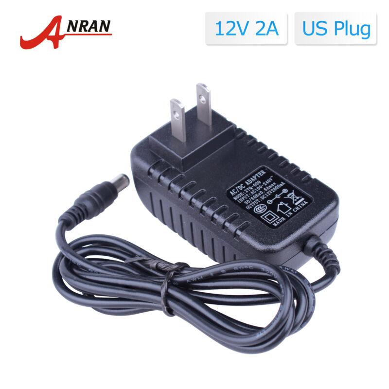 AC 110-240V Adapter Power Supply Plug for CCTV Security Camera System DC 12V 2A
