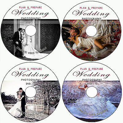 LEARN HOW PLAN & PREPARE WEDDING PHOTOGRAPHY TRAINING TUTORIALS ON 4 DVD - VOL 2