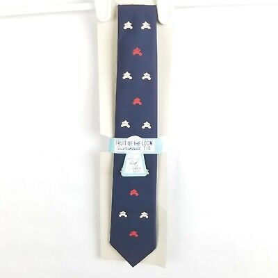 Clothes Of The 60s (NWT Vintage Fruit Of The Loom 60s Thin Dress Tie Blue)