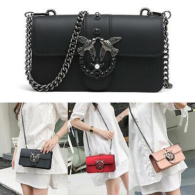 Women Designer Quilted Messenger Shoulder Crossbody Bag PU Leather Chain Handbag