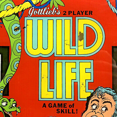 Gottlieb Wild Life Pinball Machine Game Backglass