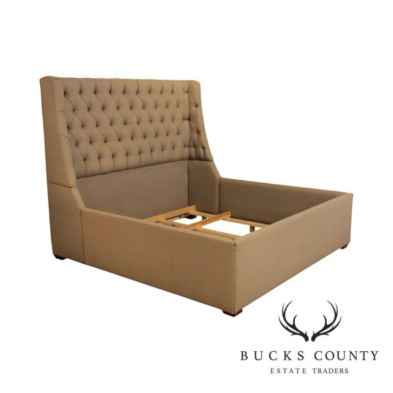 Custom Upholstered Tufted King Size Bed