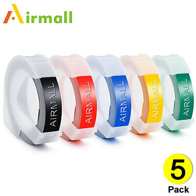 5pk Label Replace Dymo 3d Plastic Embossing Tape For Xpress Label Maker 38 3m