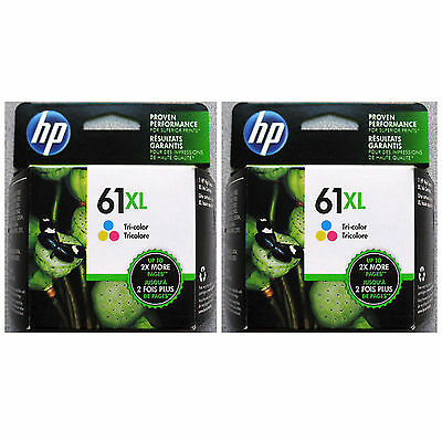 2017 In Box 2-pk Hp 61xl Genuine Color Ink Hp 61 Officeje...