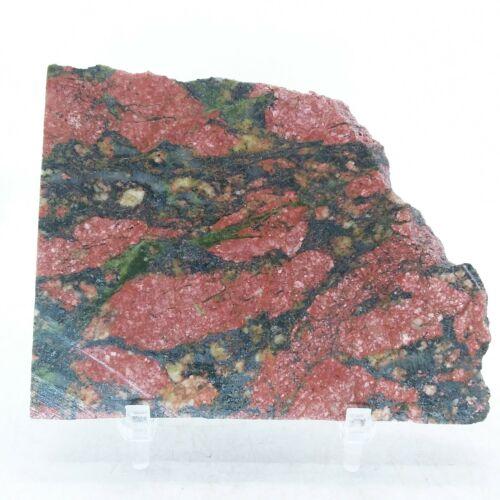 Unakite, slab, cabbing rough, lapidary, gemstone, rough, green, pink, #R-3231