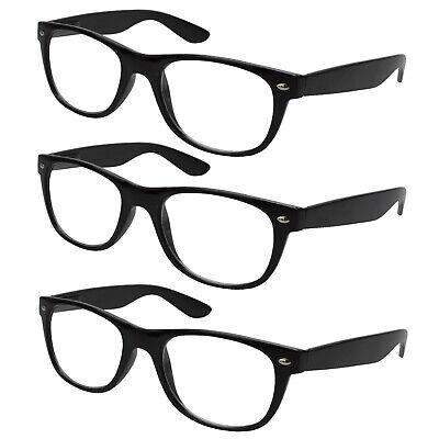 3x Lesebrille schwarz Lesehilfe Sehhilfe Kunststoff Brille Vollrahmen - Schwarze Brille