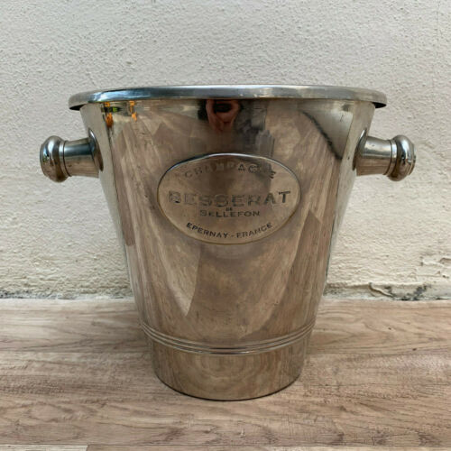 Vintage French Champagne French Ice Bucket Cooler Made France BESSERAT 1411199