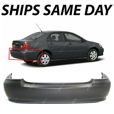 NEW Primered - Rear Bumper Cover Replacement for 2003-2008 Toyota Corolla 03-08 Toyota Corolla Bumper Cover