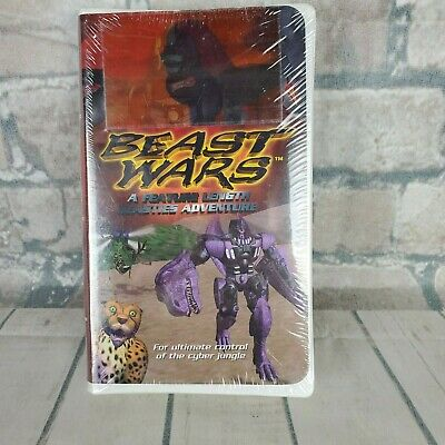 Vintage 1997 Beast Wars VHS Movie Transformers Maximals Predicons New Old Stock