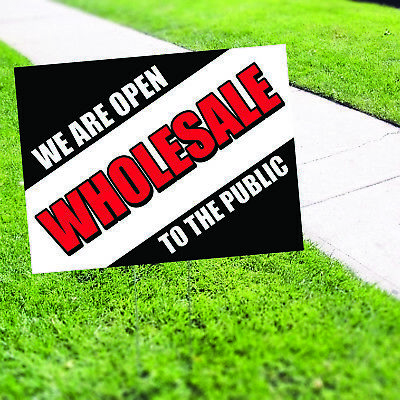 We are Open Wholesale Plastic Indoor Outdoor Coroplast Yard Sign