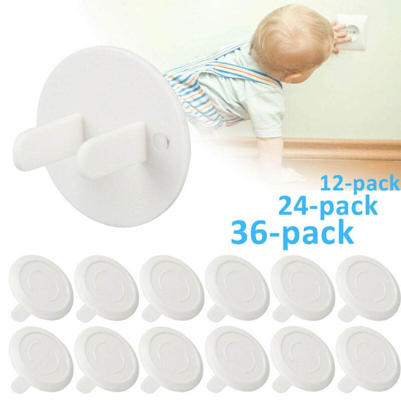 12/24/36-pack Safety Child Baby Proof Electric Outlet Power Socket Plastic Cover
