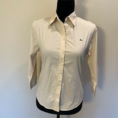 Lacoste Medium yellow button down shirt size 42         B